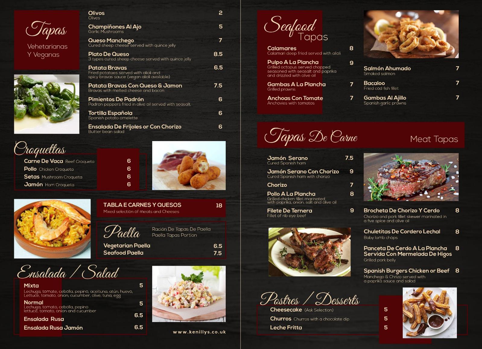 menu zeyn